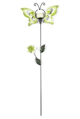 Solární dekorace motýl, zelená