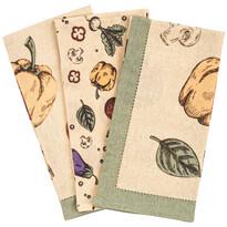 Vegetable törlőruha, 50 x 70 cm, 3 db-os szett