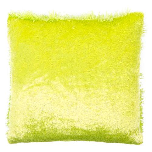 Faţă de pernă miţoasă Peluto Uni, verde, 40 x 40 cm