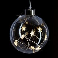 Solight 1V204 Vánoční skleněná dekorace Koule , 10 LED