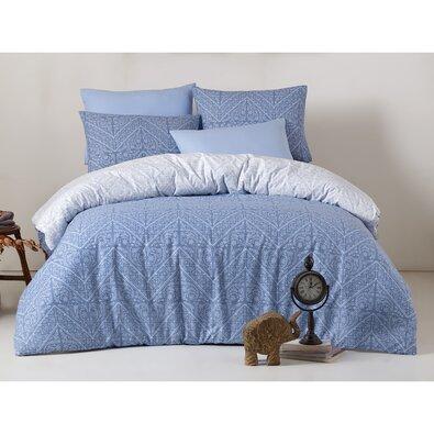 Bavlněné povlečení Vira Blue, 140 x 200 cm, 70 x 90 cm