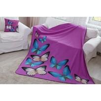 Domarex BUTTERFLY 3D takaró, lila, 150 x 200 cm
