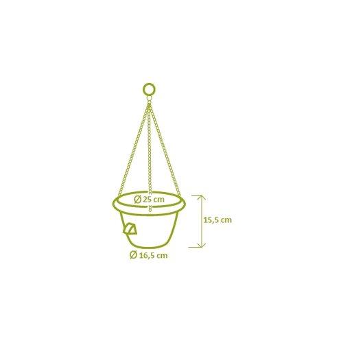 Samozavlažovací závěsný květináč 25 cm, terakota