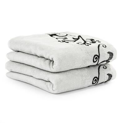 4Home ručník Venera světle šedá, 50 x 90 cm, 2 ks