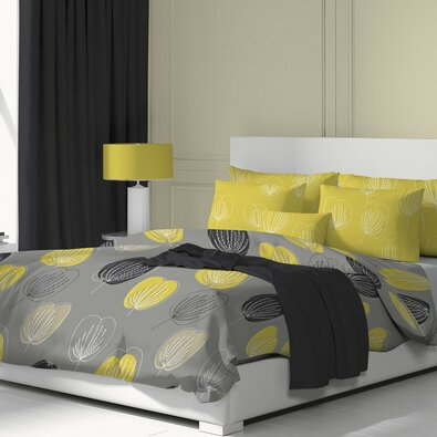 Kvalitex Grace pamut ágynemű, szürke, 140 x 200 cm, 70 x 90 cm