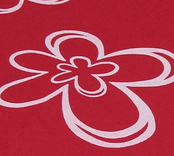 Podsedáky na židle Květ, tmavě červená