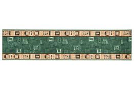 Kobercový běhoun Zara zelená, 100 x 200 cm
