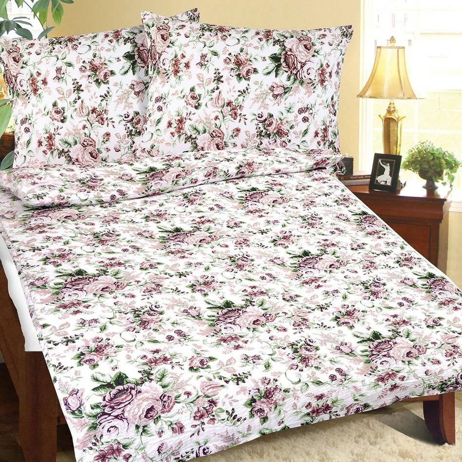 Bellatex Lenjerie de pat creponată Buchet, 140 x 200 cm, 70 x 90 cm imagine