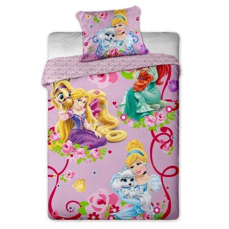 Lenjerie de pat pentru copii Prințesele 2015, 140 x 200 cm, 70 x 90 cm