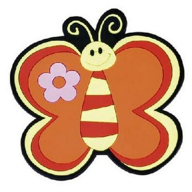 Kuchyňská podložka Motýl oranžová, 10 x 10 cm