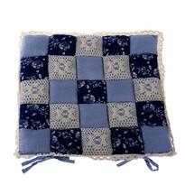 Sedák Patchwork tmavě modrá, 40 x 40 cm