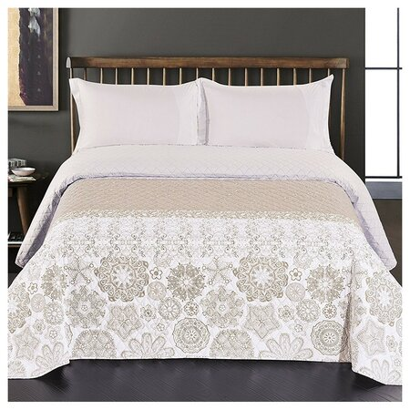 DecoKing Narzuta na łóżko Alhambra beżowy, 220 x 240 cm