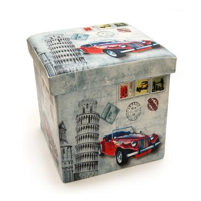 Skládací sedací box s potiskem Itálie