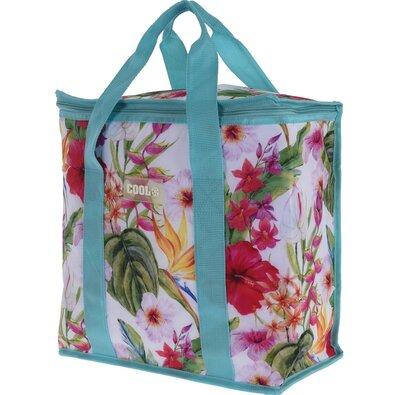 Koopman Chladiaca taška Tropical flowers modrá, 16 l