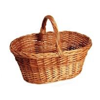 Koszyk pleciony na grzyby, 37 x 30 x 29 cm