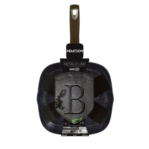 Berlinger Haus Grilovacia panvica Shiny Black Collection, 28 cm