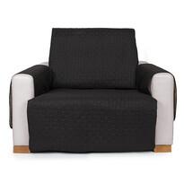 4Home Narzuta na fotel Doubleface czarna/szara