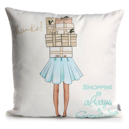 Altom Fashion Shopping párna, 40 x 40 cm