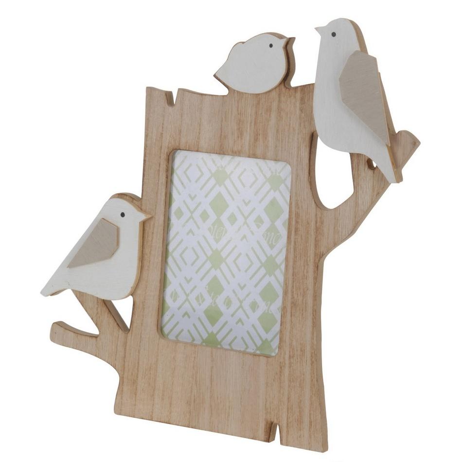 Fotorámček Vtáčiky, biela