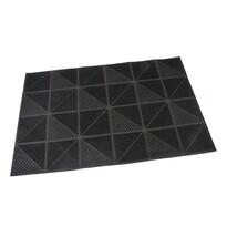 Venkovní rohožka kartáčová Triangles, 40 x 60 cm