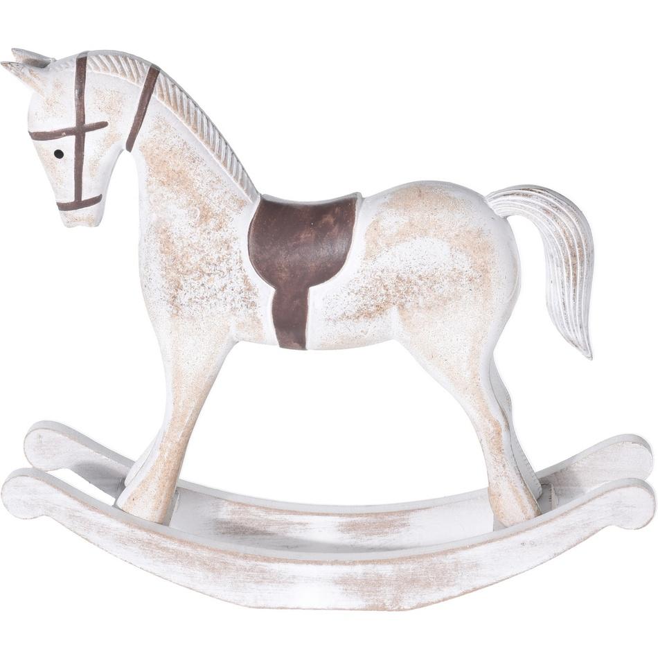 Flavio dekor hintaló, fehér, 37,5 cm