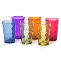 6-dielna sada farebných pohárov