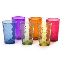 6dílná sada barevných sklenic