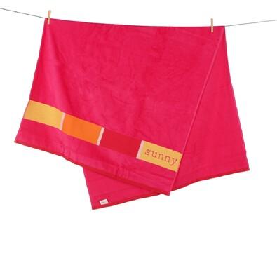 Plážová osuška Sunny Uni 3951 růžová, 90 x 170 cm