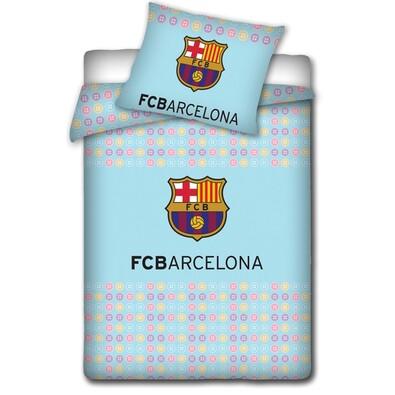 Dětské bavlněné povlečení do postýlky FC Barcelona light, 100 x 130 cm, 40 x 60 cm