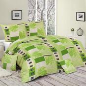Bavlněné povlečení Vivien zelená, 140 x 200 cm, 70 x 90 cm