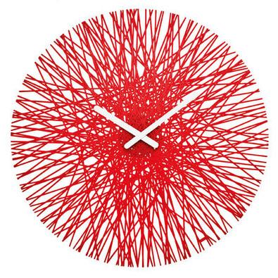 Koziol Nástěnné hodiny Silk, červená