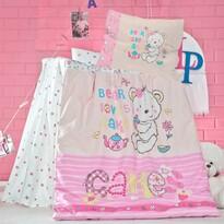 Lenjerie de pat pentru pătuț de copil Cakes, 100 x 135 cm, 40 x 60 cm