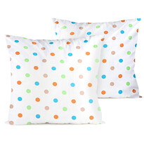4home Poszewka na poduszkę Dots pomarańczowego, 2 szt. 40 x 40 cm