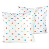 Față de pernă 4home Dots portocaliu, 2 buc. 40 x 40 cm