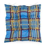 Sedák s kostičkami modrá, 40 x 40 cm