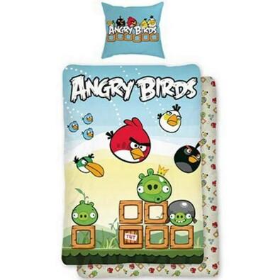 Dětské bavlněné povlečení Angry Birds Game, 140 x 200 cm, 70 x 90 cm