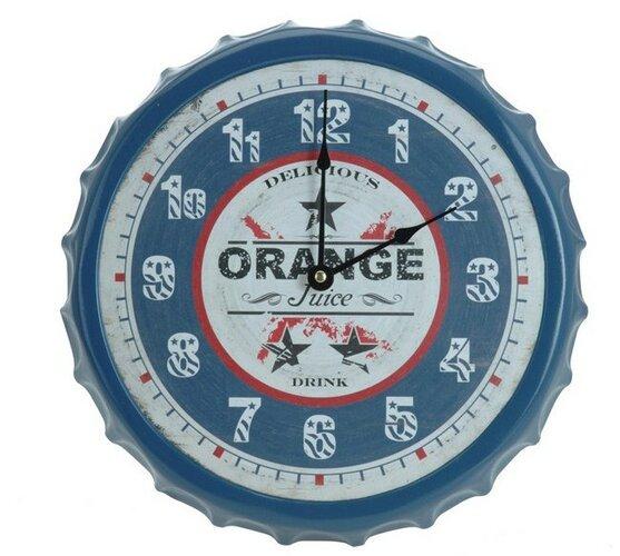 Nástěnné hodiny Orange modré 33,5 cm