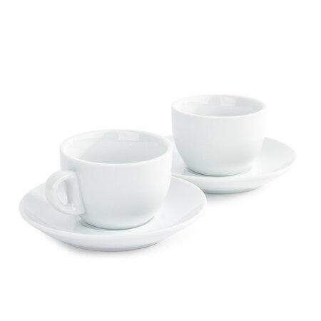 Domestic set de 2 cești și 2 farfurioare pentru Cappuccino, 180 ml