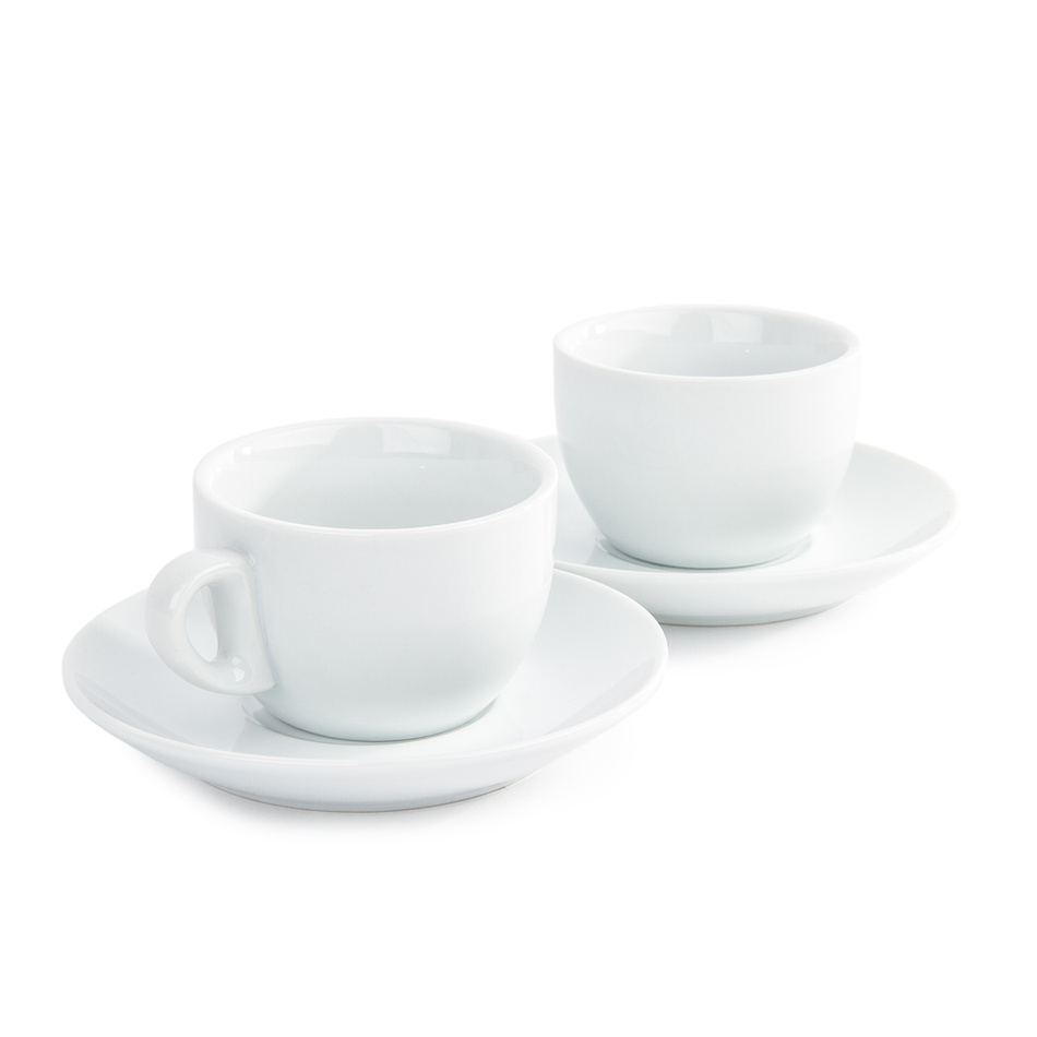 Domestic sada 2 šálků a 2 podšálků na Cappuccino, 180 ml