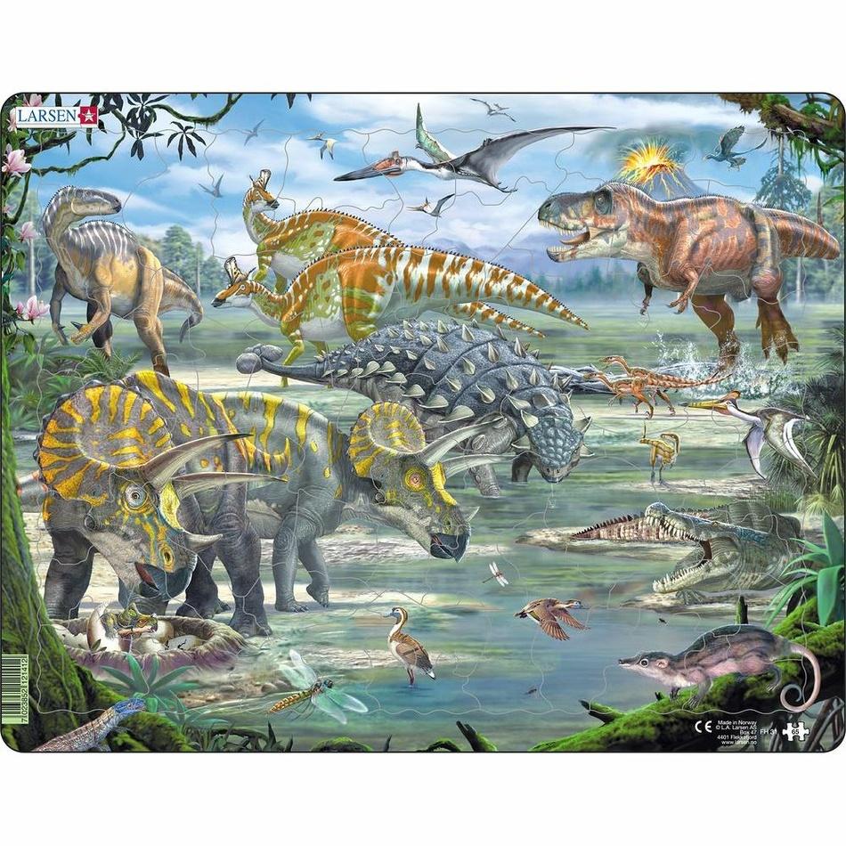 Larsen Puzzle Dinosauři, 65 dílků