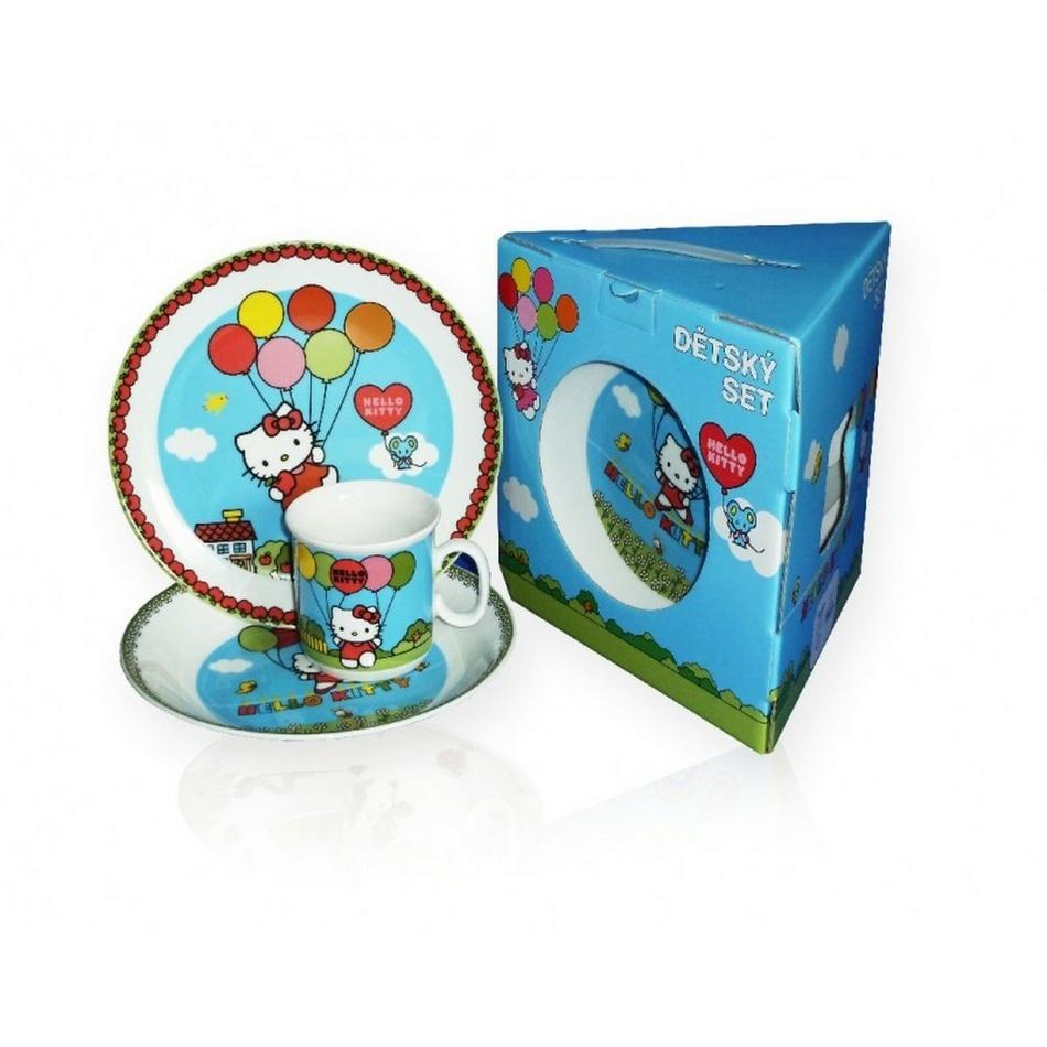 THUN Detská jedálenská súprava Hello Kitty, 3 ks
