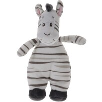 Plyšová zebra bílá, 20 x 13 cm