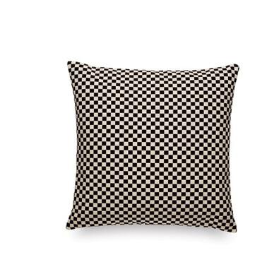 Polštář Checker 43 x 43 cm, černá-bílá