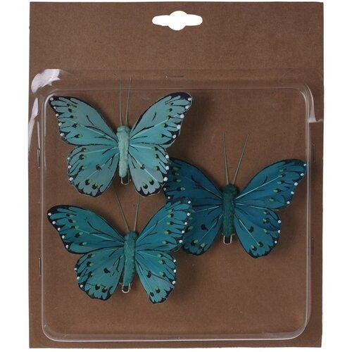Koopman Sada motýlů na klipu zelená, 10 cm