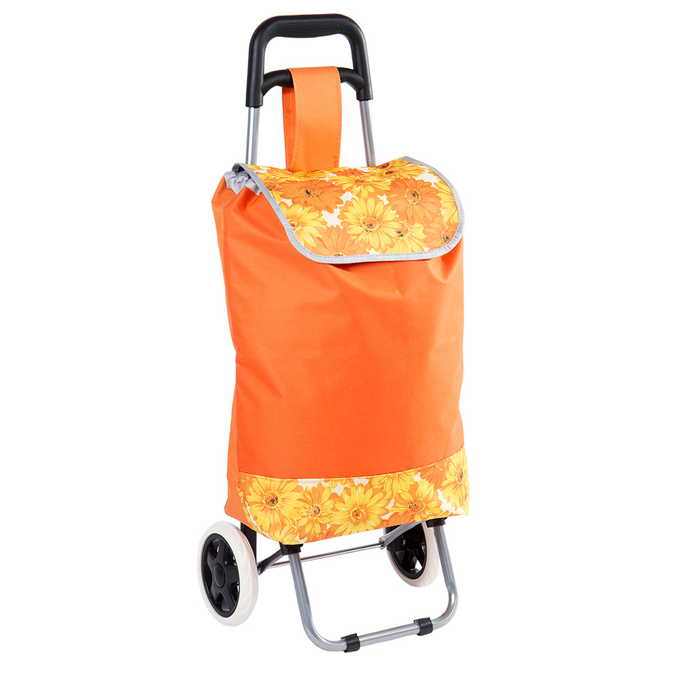 Nákupná taška na kolieskach Daisy, oranžová