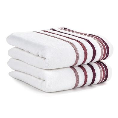 4Home ručník Bibiana bavlněný bílá, 50 x 90 cm, 2 ks