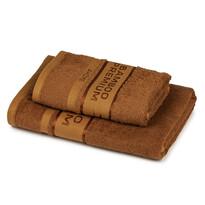 4Home Bamboo Premium törölköző és fürdőlepedő szett barna, 70 x 140 cm, 50 x 100 cm