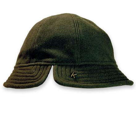 Dámský flaušový klobouk, zelená, 55 - 56