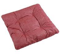 Sedák Adéla, červená uni, 40 x 40 cm, sada 2 ks