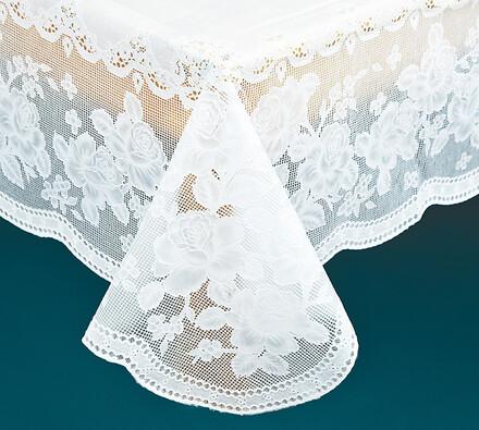 PVC ubrus na stůl s imitací krajky, 135 x 180 cm